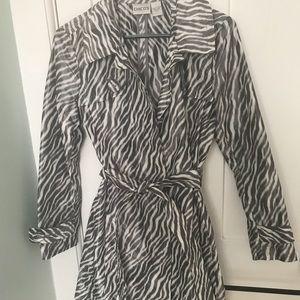 Zebra striped trench coat - Small